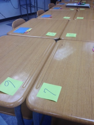 Numbered Seats for Speed Dating
