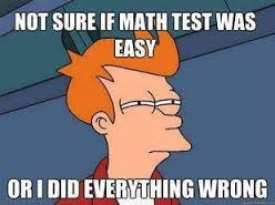 Math Test Easy or Wrong